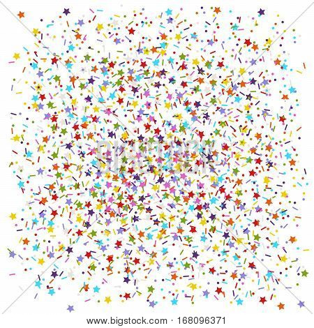 colored flat vector sprinkles stars dots and lines as confection candy or confetti background