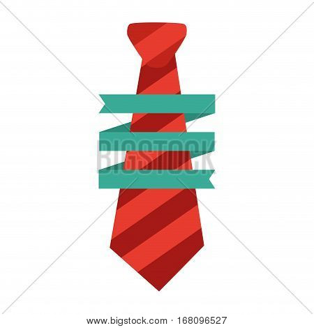 necktie man wrap ribbon decorative father day vector illustration eps 10
