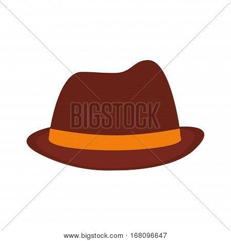 hat fedora ribbon father day vector illustration eps 10