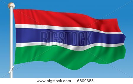 Flag of Gambia - vector illustration