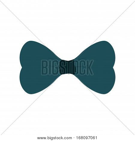 blue bowtie man father day party vector illustration eps 10