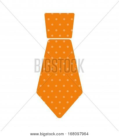 yellow necktie man celebration father day dotted vector illustration eps 10