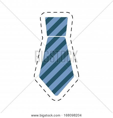 necktie elegant father day cut line vector illustration eps 10
