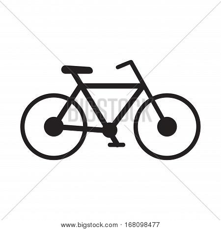 bicycle transport sport recreational pictogram vector illustration eps 10