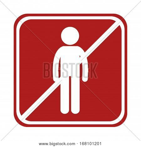 restricted man person icon square sign vector illustration eps 10