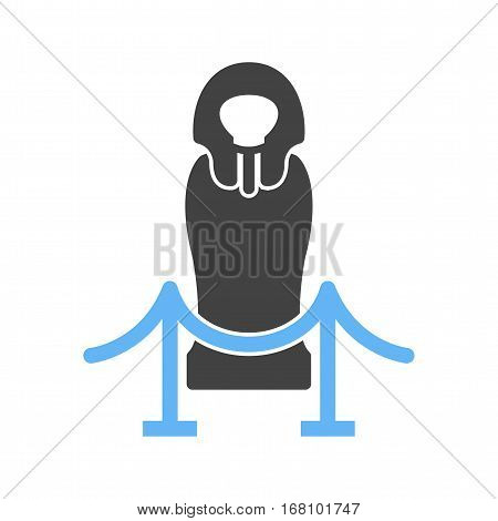Egyptian, gods, temple icon vector image. Can also be used for museum. Suitable for mobile apps, web apps and print media.
