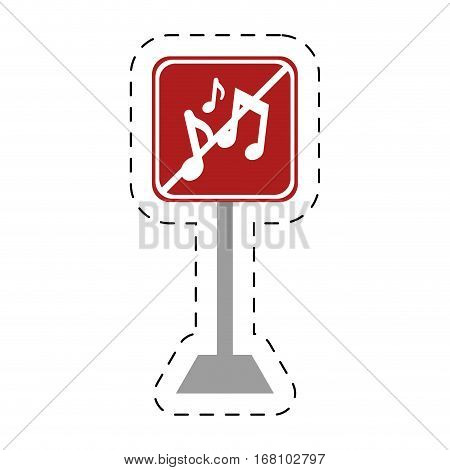 traffic prohibited music sound vector illustration eps 10