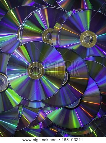 Spectrum colorful disk background