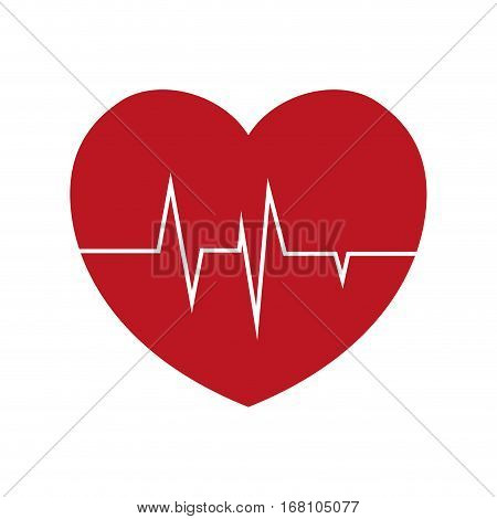 heart rate health cardiology symbol vector illustration eps 10