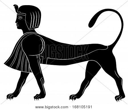Image of the Sphinx - mythical creature of ancient Egypt