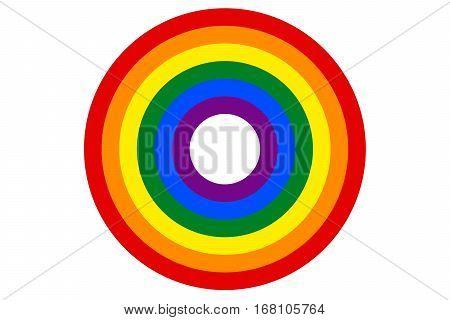 LGBT rainbow flag is the target vector