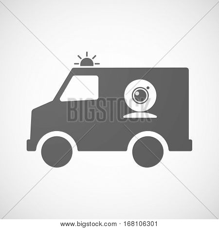 Isolated Ambulance With A Web Cam