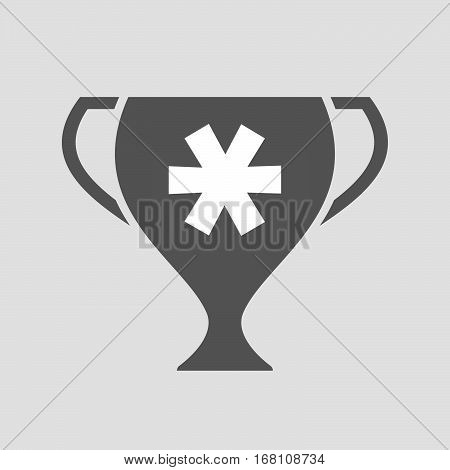Isolated Award Cup With An Asterisk
