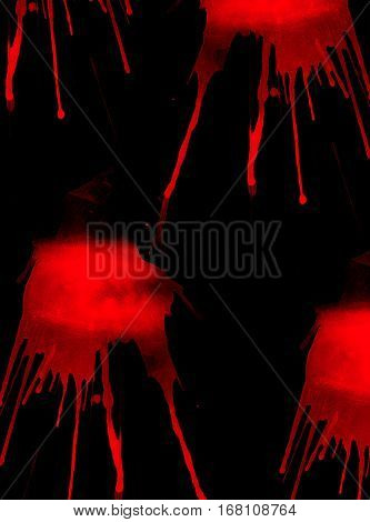 Abstract Luminous Red Colors And Black Background