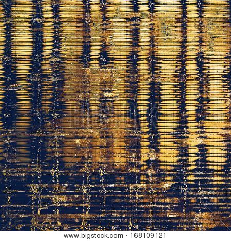 Stylish grunge texture, old damaged background. With different color patterns: yellow (beige); brown; blue; black