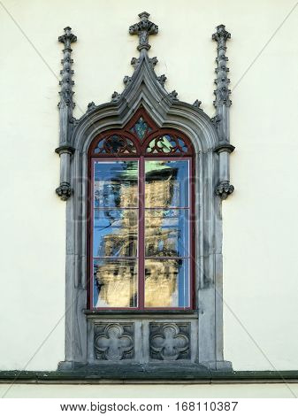 Detail of the Gothic window - architectural detail
