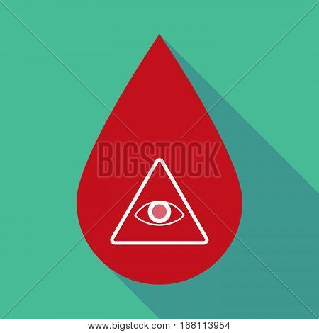 Long Shadow Blood Drop With An All Seeing Eye