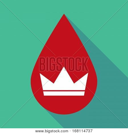 Long Shadow Blood Drop With A Crown