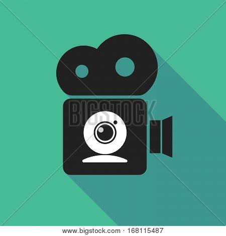 Long Shadow Cinema Camera With A Web Cam