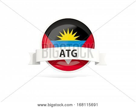 Flag Of Antigua And Barbuda With Banner