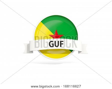 Flag Of French Guiana With Banner