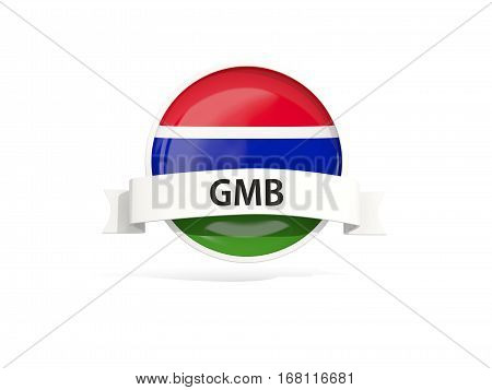 Flag Of Gambia With Banner