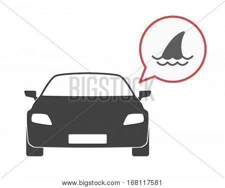 Isolated Car With A Shark Fin