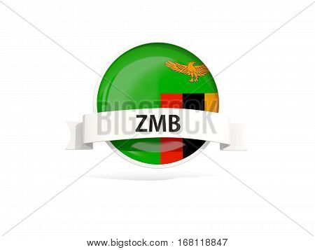 Flag Of Zambia With Banner
