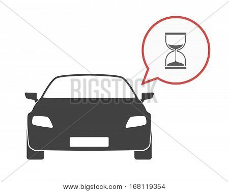 Isolated Car With A Sand Clock