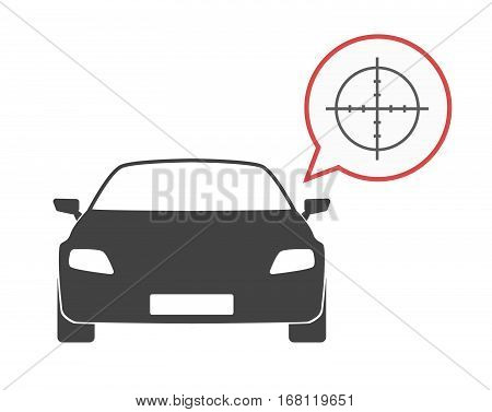 Isolated Car With A Crosshair
