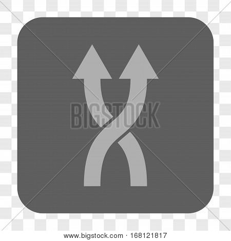 Shuffle Arrows Up interface toolbar button. Vector icon style is a flat symbol on a rounded square button light gray and gray colors chess transparent background.