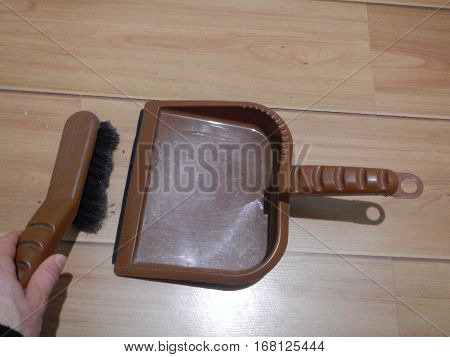 Plastic Brush And Showel For Home Cleaning
