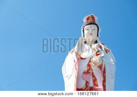 Guanyin statue in Thailand. Symbol of religion