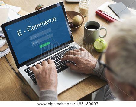 E-Commerce Internet Banking Online Payment Concept
