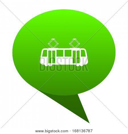 tram green bubble web icon