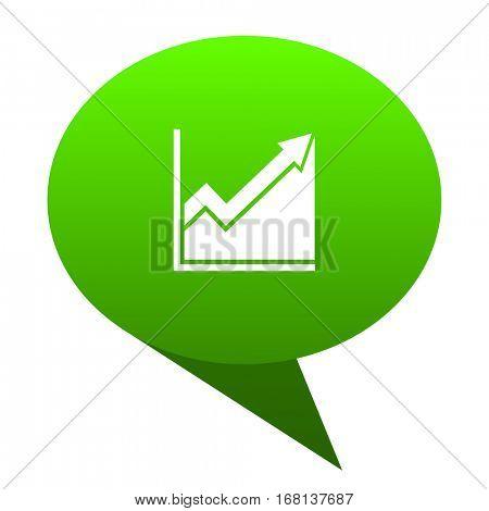 histogram green bubble web icon