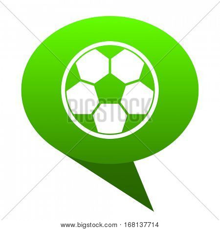 soccer green bubble web icon
