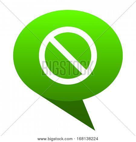 access denied green bubble web icon