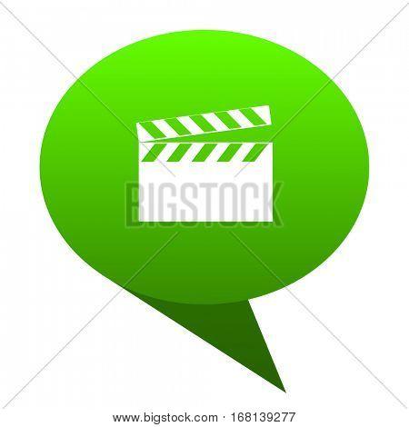 video green bubble web icon