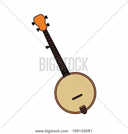 banjo instrument icon over white background. colorful design. vector illustration