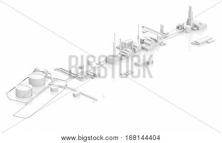 Generic Modern Industrial Facility 3D