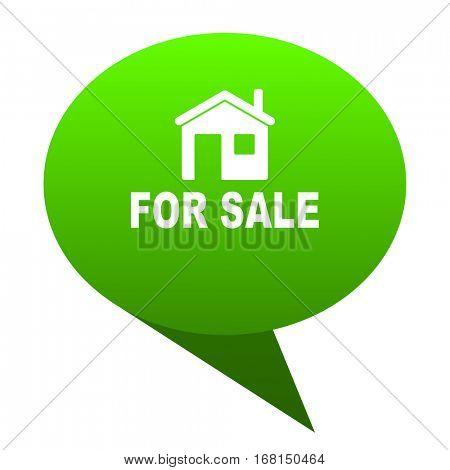 for sale green bubble web icon