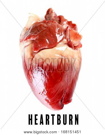 Cardiology and health care concept. Heart on white background