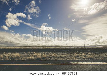 Raw Arizona Sunny Landscape. Arizona Countryside Landcape.