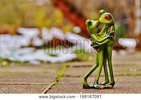 Marriage, love, frog, sweet, cute, frog lover, congratulations, love, love, Valentine's Day, Valentine's Day, love, frogs, couple, kissing.Love background illustration