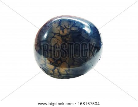 agate with chalcedony geological crystal mineral isolated
