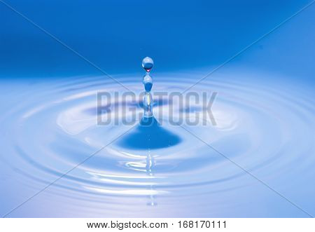 Water Drop Falling Into Water