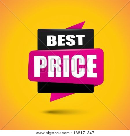 Best price bubble banner in black and pink colors