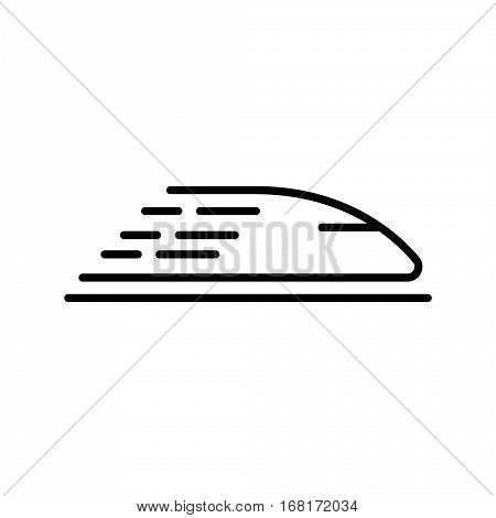 High speed train icon. concept for design. Vector illustration.
