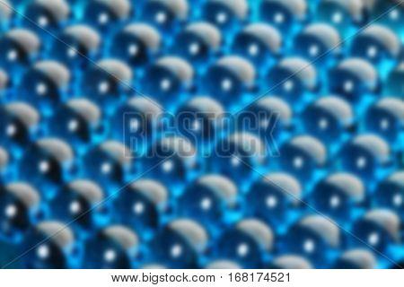 Background Blue Glass Balls